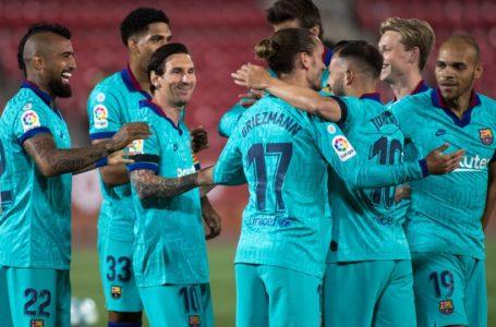 برشلونة يسحق ريال مايوركا في أول مباراة له بعد التوقف