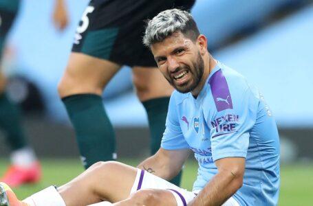 أغويرو يسافر إلى برشلونة لإجراء بعض الفحوص الطبية بعد إصابته