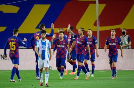 برشلونة يتغلب على إسبانيول في ديربي كتالونيا