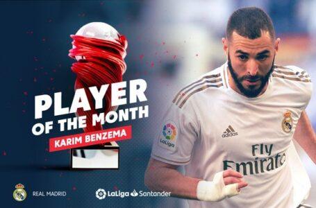 كريم بنزيما يفوز بجائرة لاعب الشهر في الدوري الإسباني