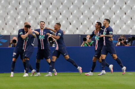 باريس سان جيرمان يتوج بكأس فرنسا بعد فوزه على سانت إيتيان