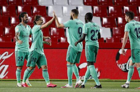 ريال مدريد يفوز على غرناطة ويقترب من اللقب الإسباني