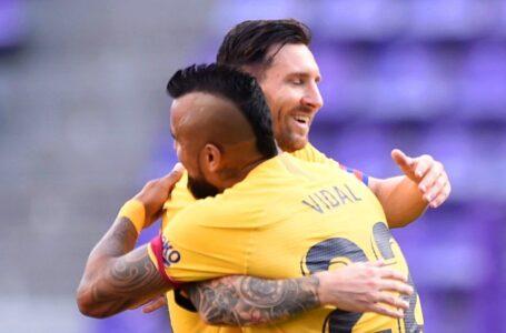 برشلونة يتفوق على بلد الوليد ويواصل مطاردة ريال مدريد