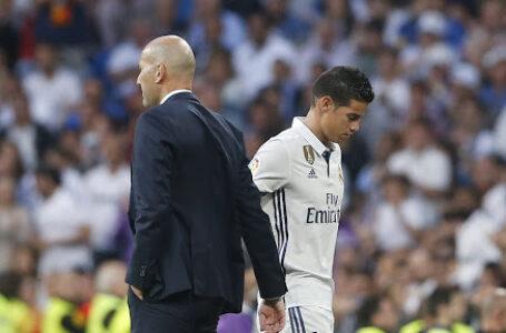 زيدان غير متأكد من بقاء خاميس رودريغيز مع ريال مدريد